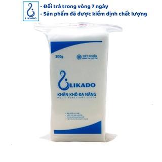 [LIKADO]Khăn khô đa năng 300g kích thước (15x20cm)(1 gói) không hóa chất/không mùi cho mẹ và bé