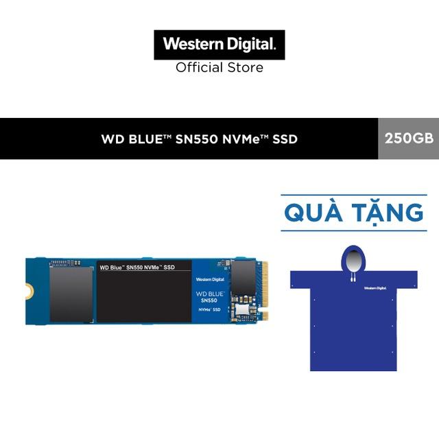 Ổ cứng SSD WD Blue SN550 250GB M.2 2280 NVMe Gen3 x4 WDS250G2B0C Chính hãng