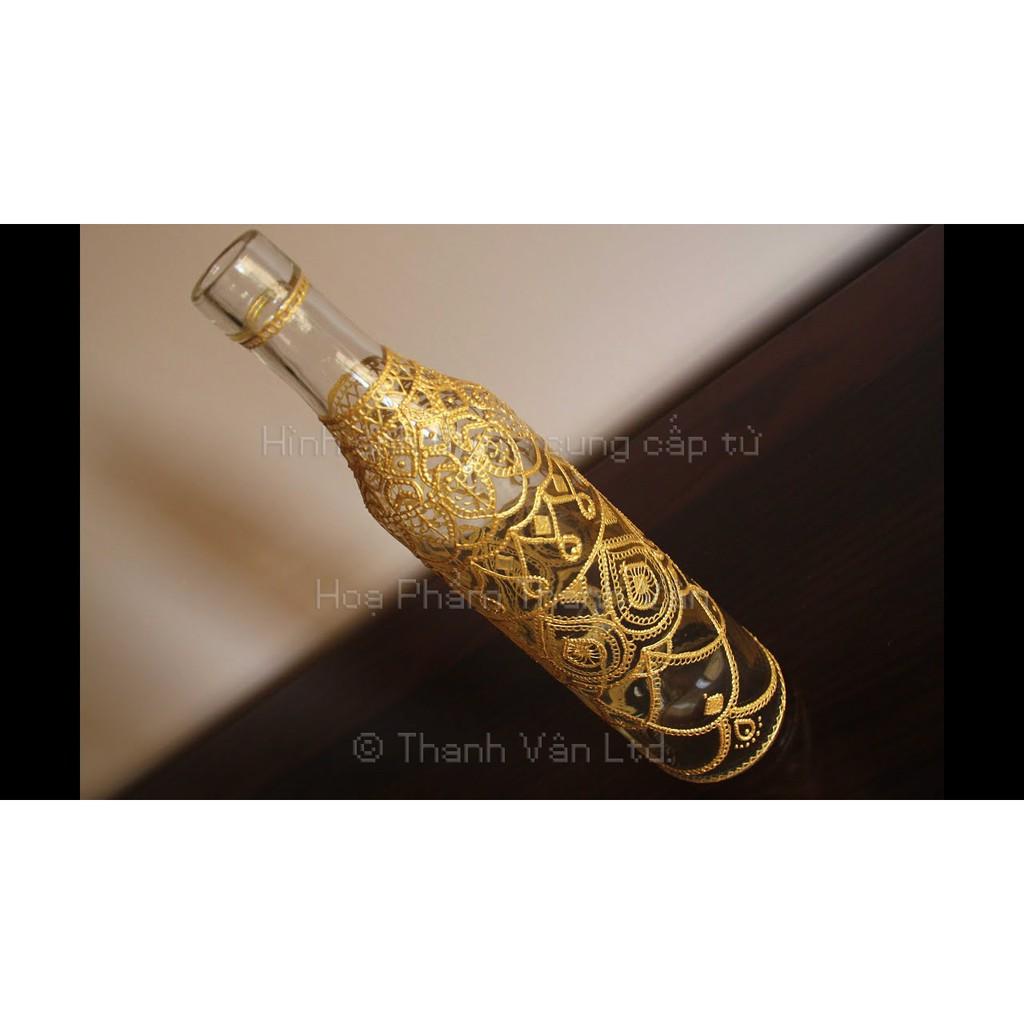 Màu vẽ viền lên thủy tinh, lên kính, Pebeo Cerne Relief 20ml | Tuýp màu 20 ml Đen, Bạc, Vàng đi viền