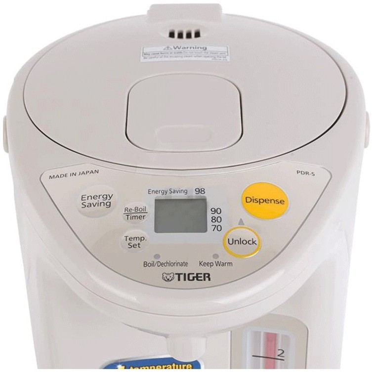 [Mã 267ELSALE hoàn 7% đơn 300K] Bình thủy điện tử Tiger PDR-S30W (3.0L)