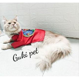 Áo dài Tết cho pets cưng, chó mèo vải gấm thumbnail
