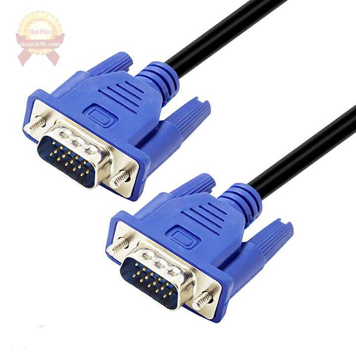 Cáp tín hiệu VGA 1m5 cho máy tính dây màu đen cao cấp