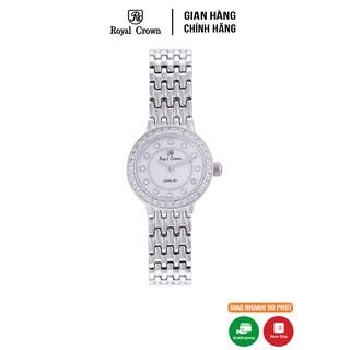Đồng hồ nữ Chính Hãng Royal Crown 3650L-SS Dây thép vỏ trắng thumbnail