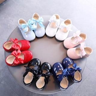 GIÀY BÚP BÊ BÉ GÁI - Giày búp bê đính nơ xinh xắn cho bé gái 1-6 tuổi