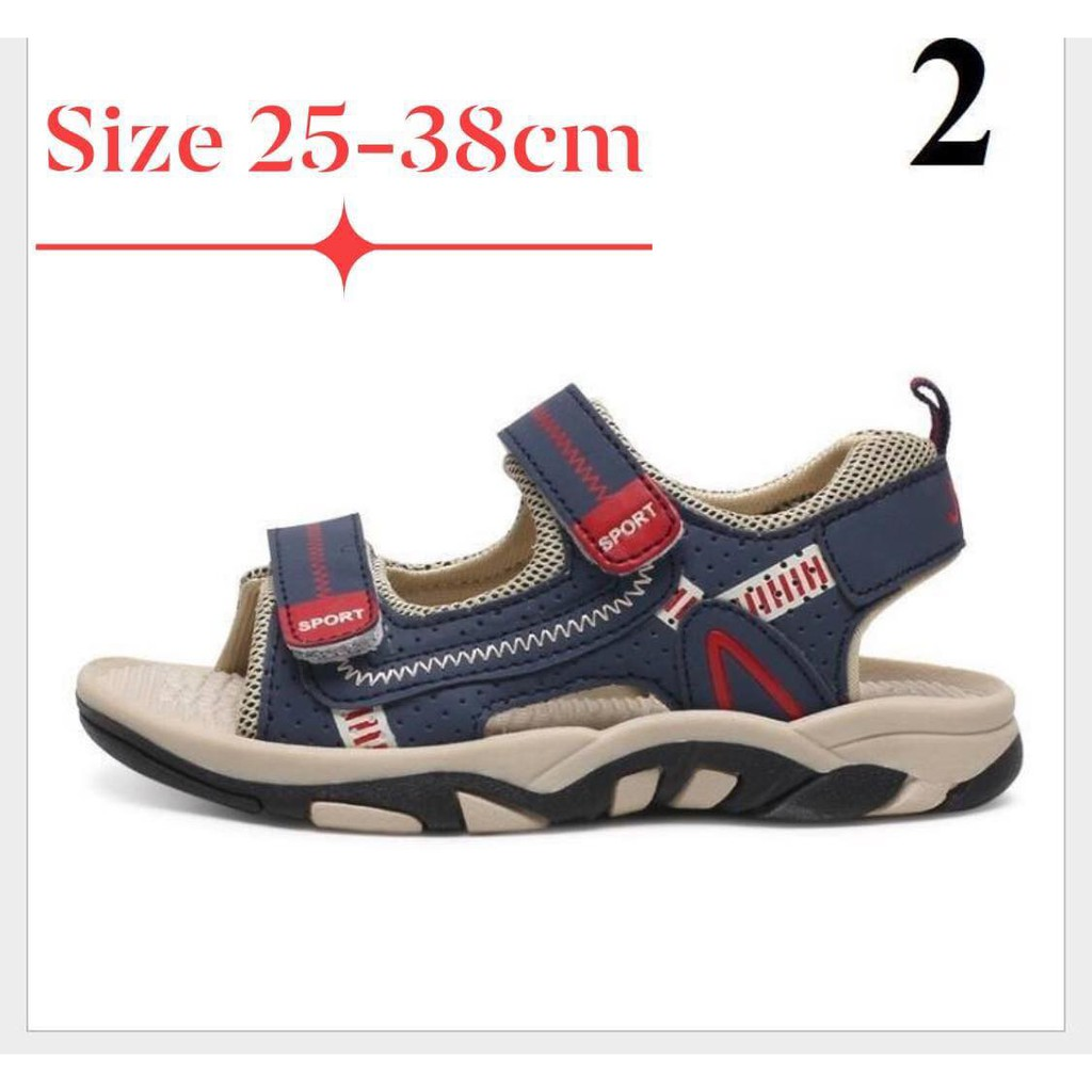 Dép sandal cao cấp cho bé trai- xanh