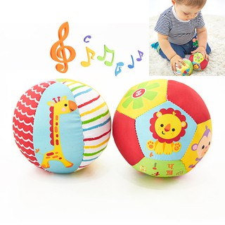 Baby Toys For Children Animal Ball Soft Plush Toys With Sound Baby Rattles