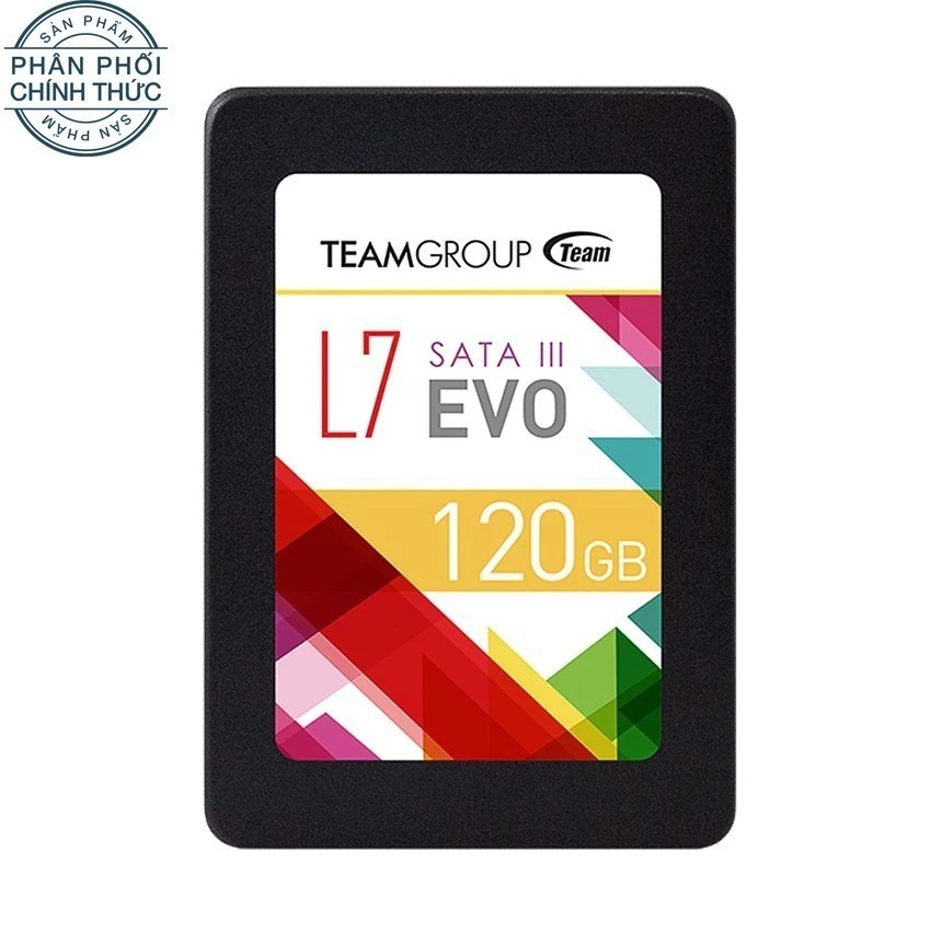 Ổ cứng SSD TEAM L7 EVO Sata III 120GB (Đen) - Hãng phân phối chính thức