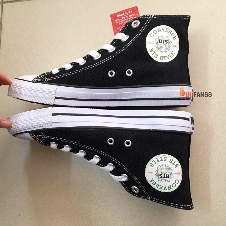 Giày Converse cổ cao BTS đen - 2880641 , 215016061 , 322_215016061 , 345000 , Giay-Converse-co-cao-BTS-den-322_215016061 , shopee.vn , Giày Converse cổ cao BTS đen