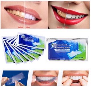 1 hộp 14 gói- 28 Miếng dán trắng răng chính hãng Mỹ- Advanced Teeth Whitening Strips