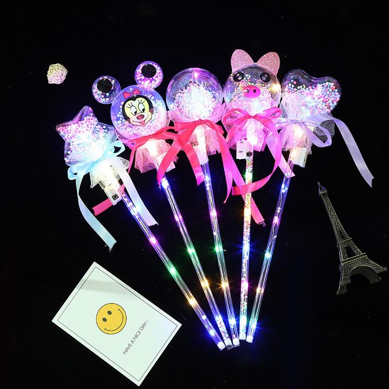 Bobo Ball Starry Sky Magic Wand Children Fairy Stick Toy Glowing