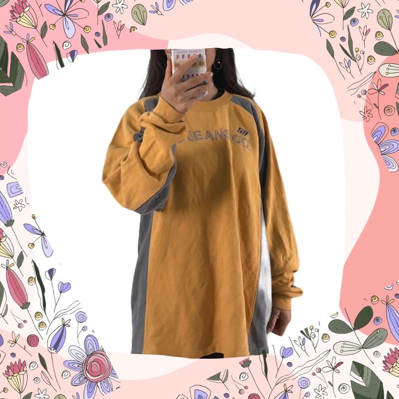 áo hoodie vàng xám