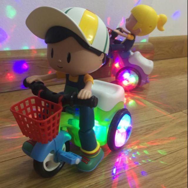 phá giá)Em bé đi xe đạp có nhạc phát sáng bốc đầu xoay 360 Tặng pin sạc và củ sạc pin | Shopee Việt Nam