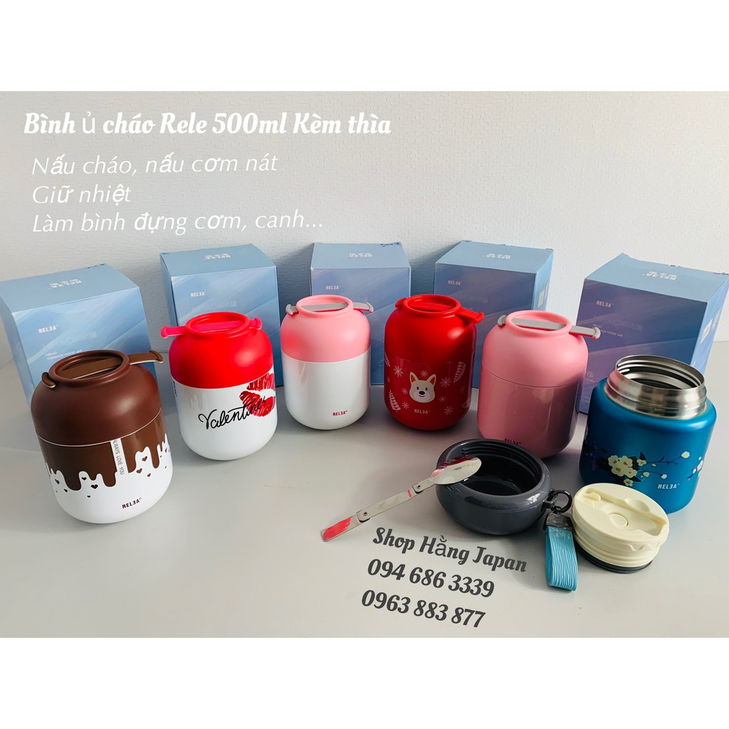 Bình ủ cháo/sữa Relea các màu