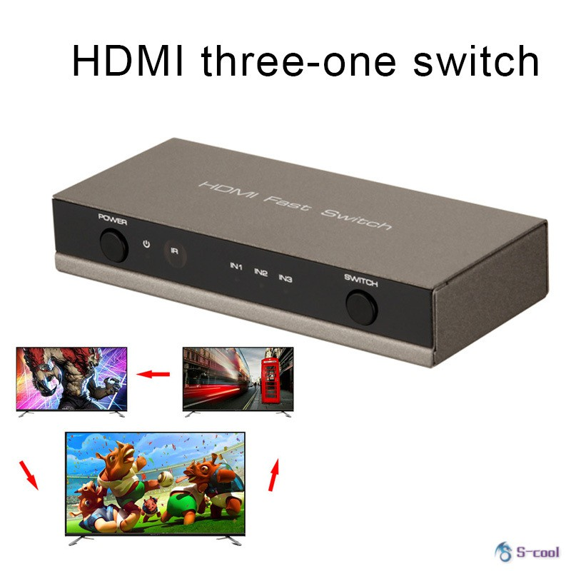 3 Port HDMI Splitter Switch HDMI Port 1080P 3 Input 1 Output 4K Adapter for XBOX 360 PS3 HDTV
