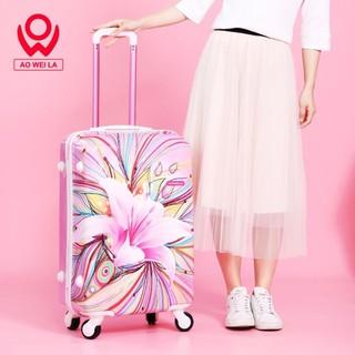 Vali kéo du lịch AO WAI LA SS010 SESAN, Size 24 vali kéo nhựa cao cấp được bảo hành 5 năm