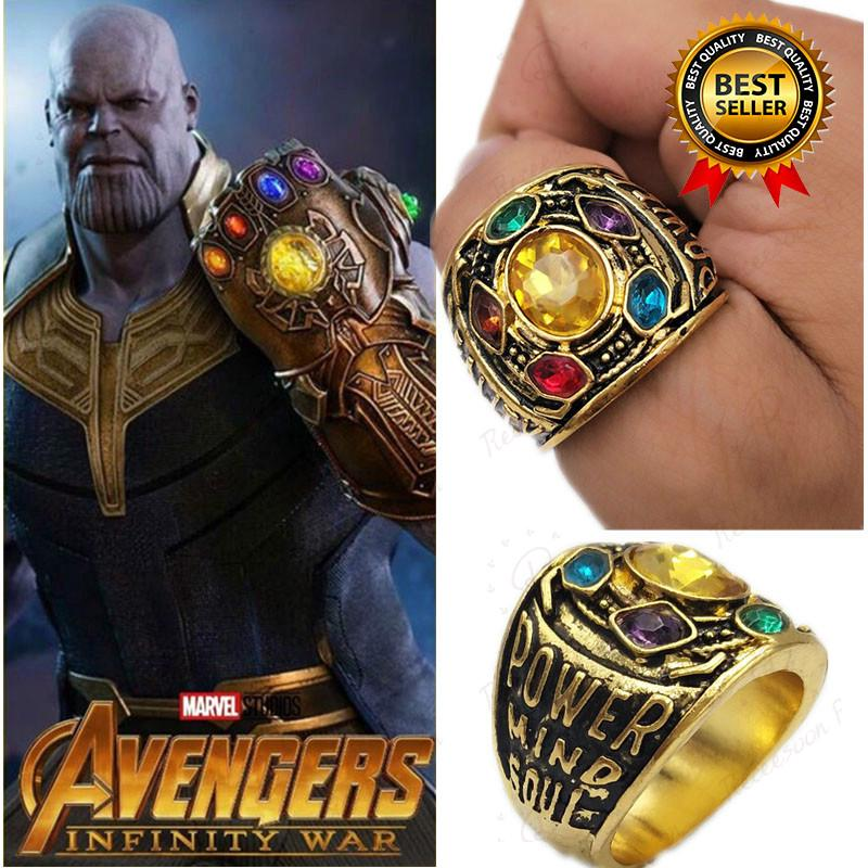 Avengers Thanos Power Ring Cosplay Infinity Gauntlet Zircon Rings Collectible