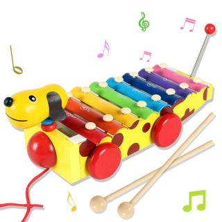 GIÁ HỦY DIỆT – Đồ chơi gỗ đàn xe kéo hình con chó
