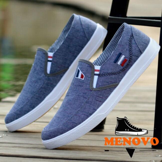 Giày lười vải nam dáng thể thao trẻ trung bền bỉ HQ1