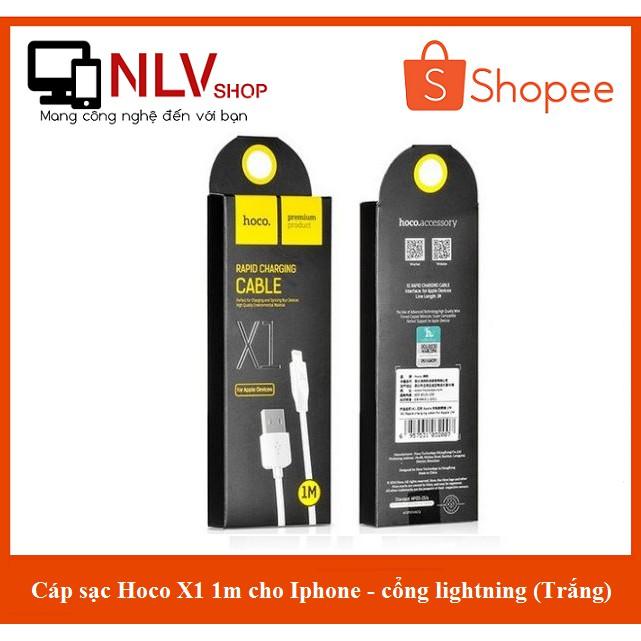 Cáp sạc Hoco X1 1m cho Iphone - cổng lightning (Trắng)