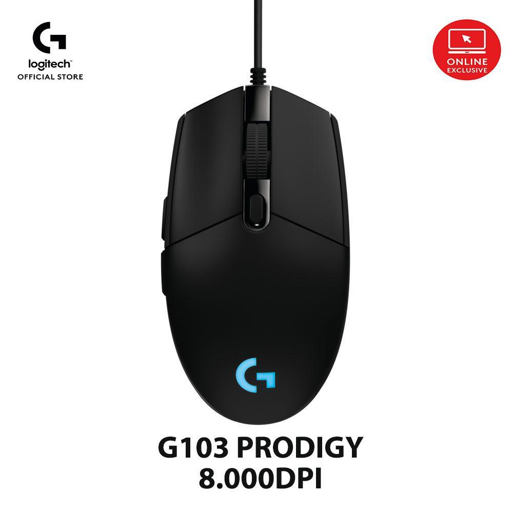 Chuột game Logitech G103 Prodigy-8.000DPI, RGB, 6 nút bấm có thể lập trình