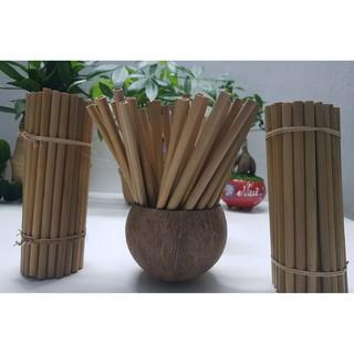 SET 10 Ống hút tre loại II ,thích hợp với mọi loại đồ uống - Bamboo straw thumbnail