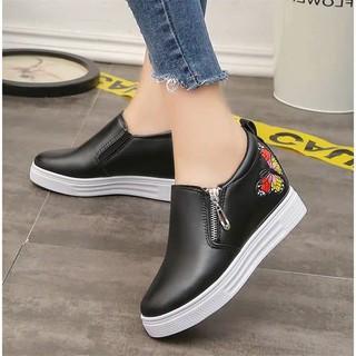 Giày nữ độn đế siêu hót hình thêu đẹp mã CM5