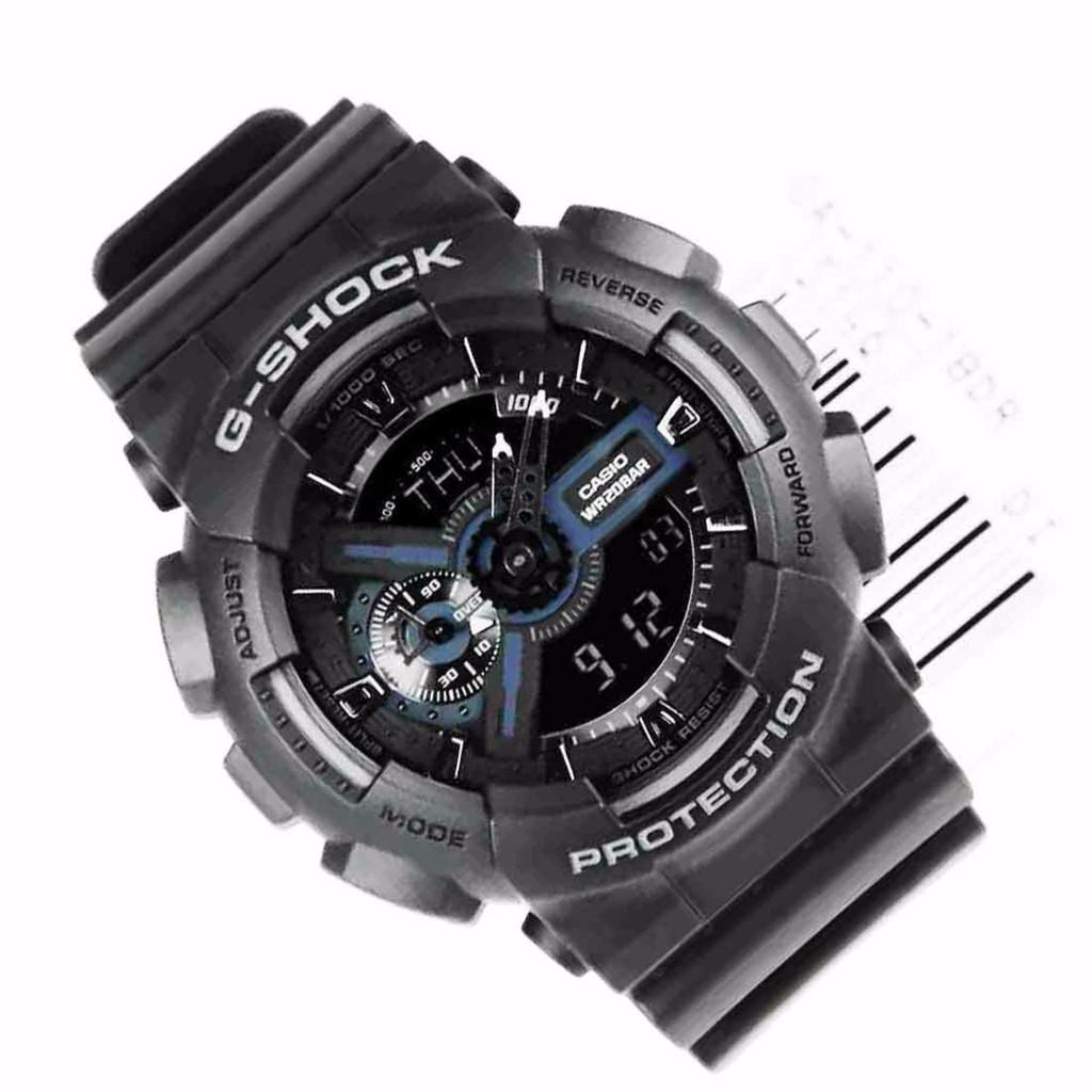 Đồng hồ nam dây nhựa G-SHOCK chính hãng Casio Anh Khuê GA-110-1BDR