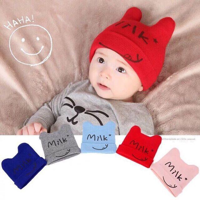 Mũ len milk cho bé[Sỉ Lẻ Sơ Sinh Bắc Ninh 7 ]