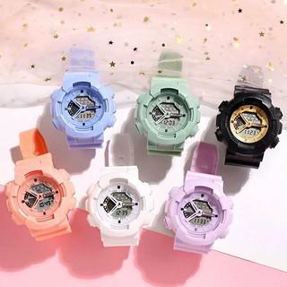 Đồng hồ điện tử thời trang nam nữ A-Sport As1 mặt tròn full chức năn