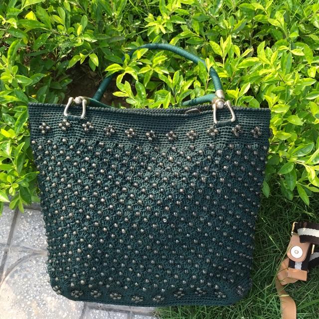 Túi handmade kết cườm tinh xảo