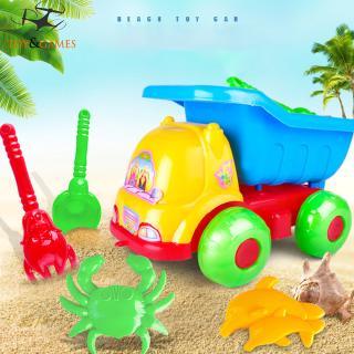 5Pcs/Set Kids Mini Car Shovel Beach Toys Set for Kids Toddler