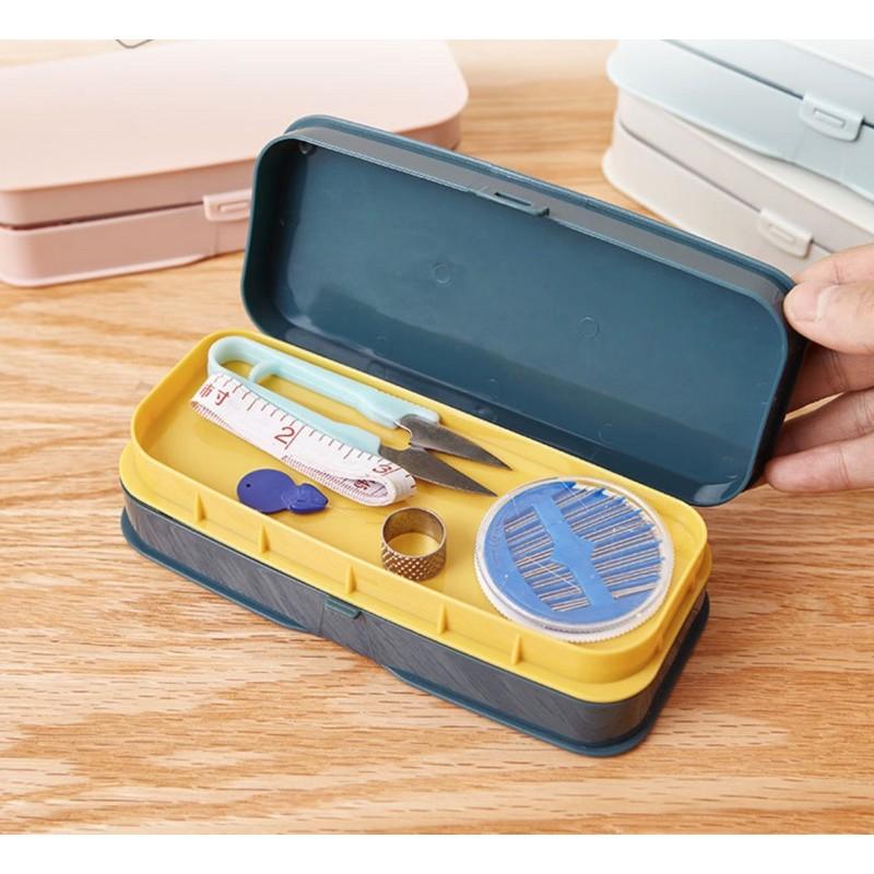 Hộp dụng cụ may vá gia đình xinh xắn nữ công thêu thùa làm handmade tự may kim chỉ phụ kiện gia dụng Len Made