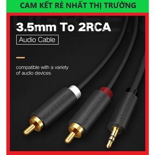 Cáp Audio 3.5mm to 2 RCA Dài 5M Cao Cấp Ugreen 10513