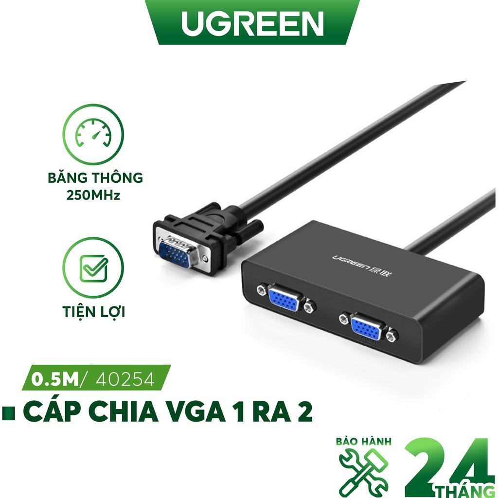 Cáp chia VGA 1 ra 2 dài 0.5m UGREEN 40254