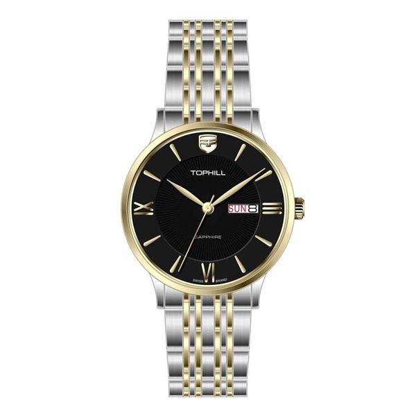 Đồng hồ Nam chính hãng TOPHILL TA050G - Dây thép - kính Saphire