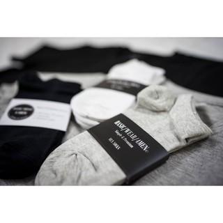 Combo 3 đôi tất cổ ngắn 3 màu chất liệu Cotton hàng Made in Việt Nam