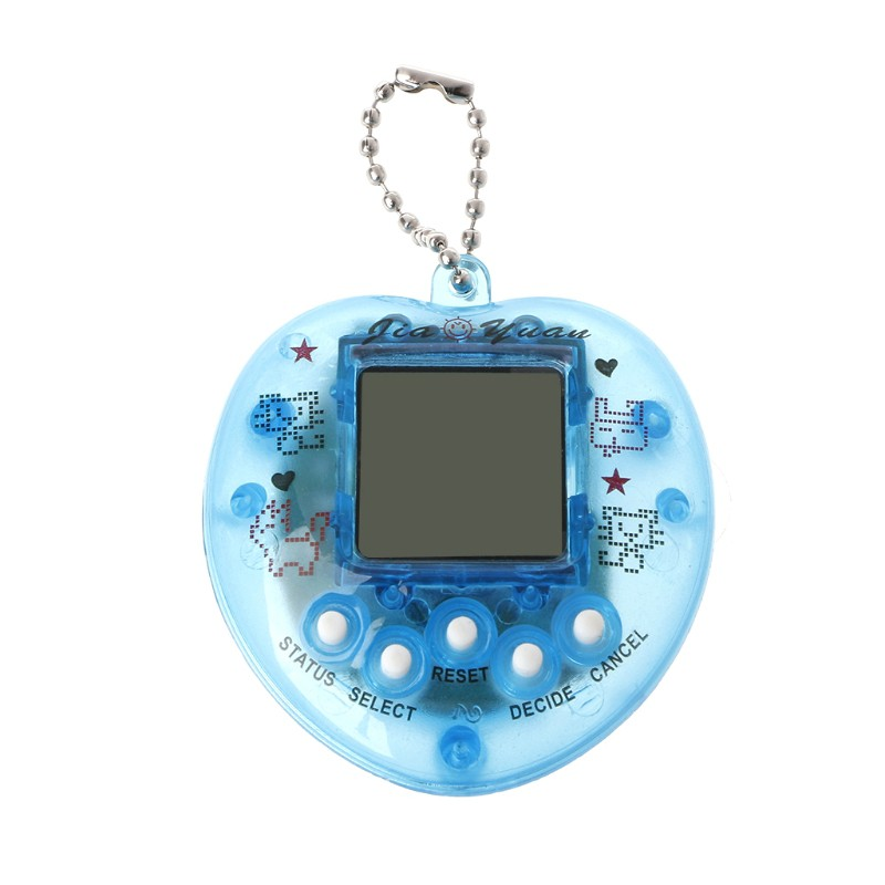 ❤❤Cute Heart Shape LCD Virtual Digital Pet Electronic Game Machine With Keychain