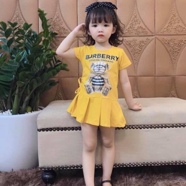 Váy đuôi cá hình gấu 3D bé gái