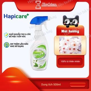 [ANH ĐÀO] Chai xịt khuẩn HapiCare+ (500ml) Dung dịch rửa tay sát khuẩn Nước khử khuẩn Xịt rửa tay khô thumbnail