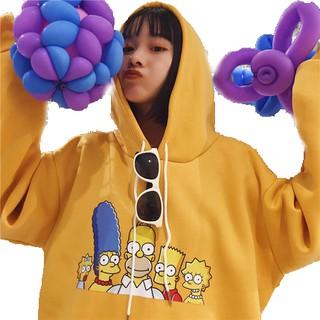 【โค้ด GLAM30 ลด 30%】Ready Stock Women Cartoon Simpson Sweater Korean Cotton Tops Blouse เสื้อกันหนาวเสื้อฮู้ด