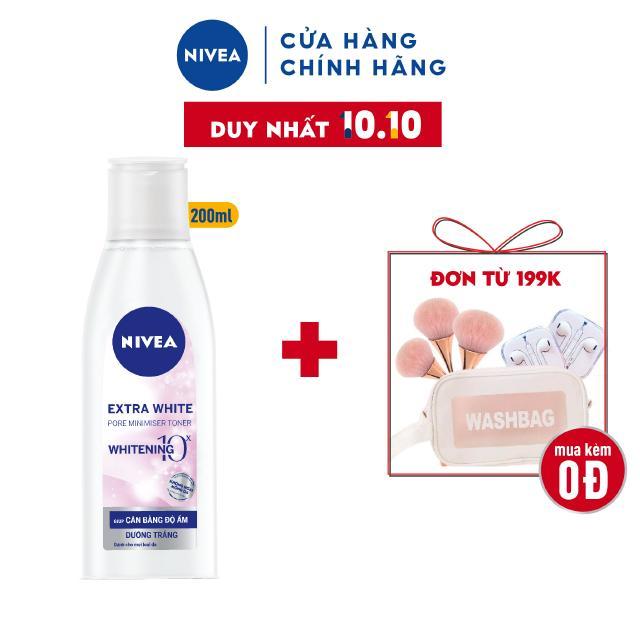 Nước hoa hồng Nivea giúp dưỡng trắng da se khít lỗ chân lông (200ml) – 86720