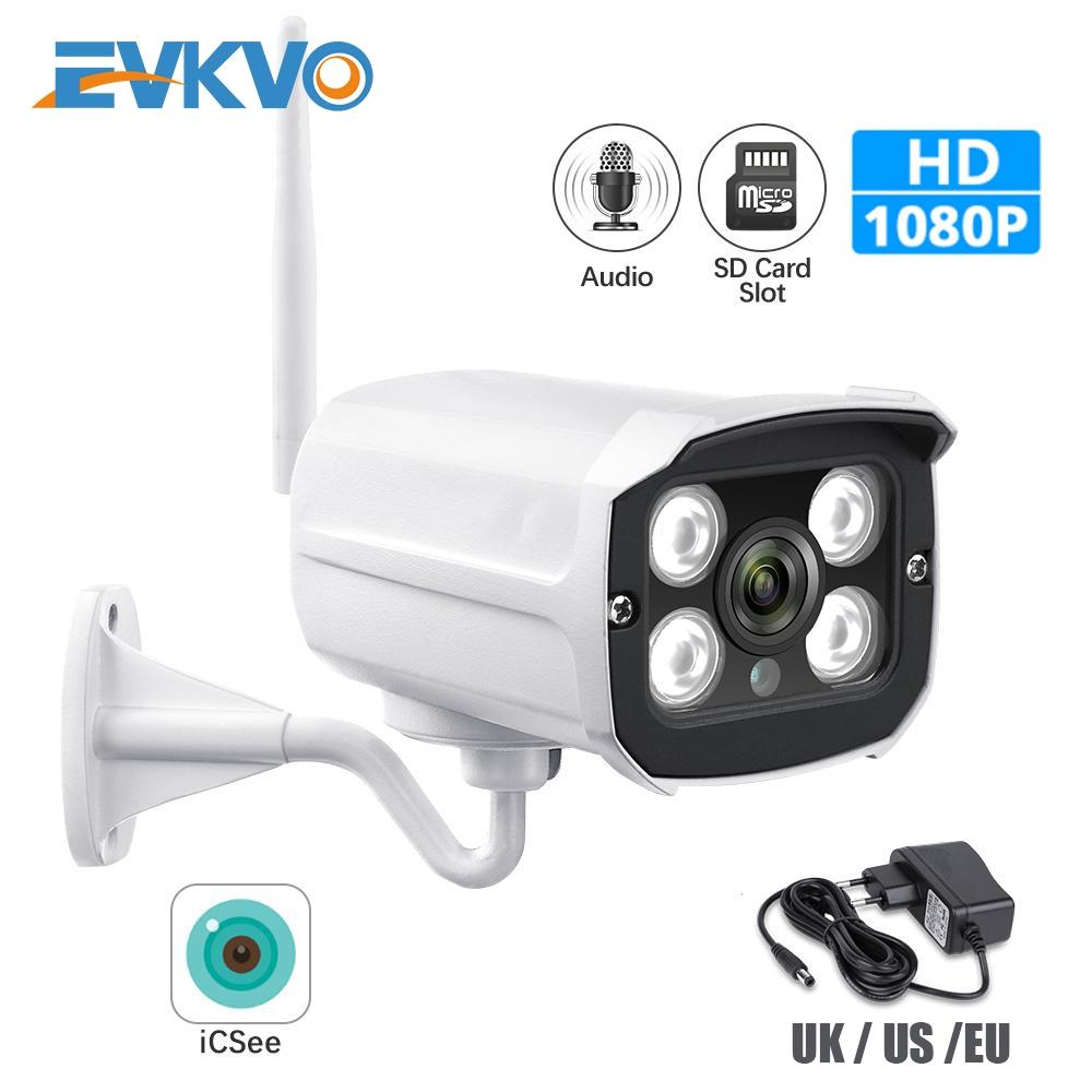 EVKVO - ICSEE XMeye APP Kết nối WIFI Camera giám sát ngoài trời HD 1080P WIFI Bullet IP Camera CCTV Tầm nhìn ban đêm hồng ngoại Metal Waterproof Outdoor Home Security Surveillance Camera IP Phát hiện chuyển động Alarm Đàm thoại hai chiều