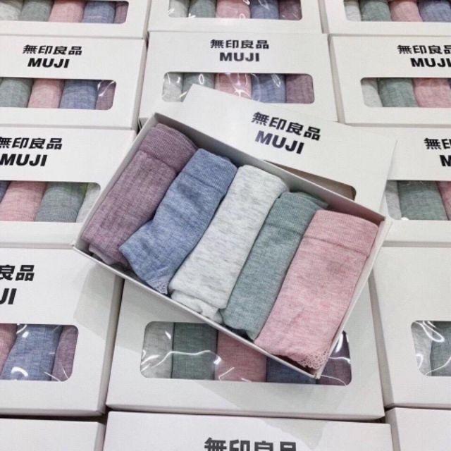 Quần lót nữ Muji hàng xuất nhật, hộp 5 quần