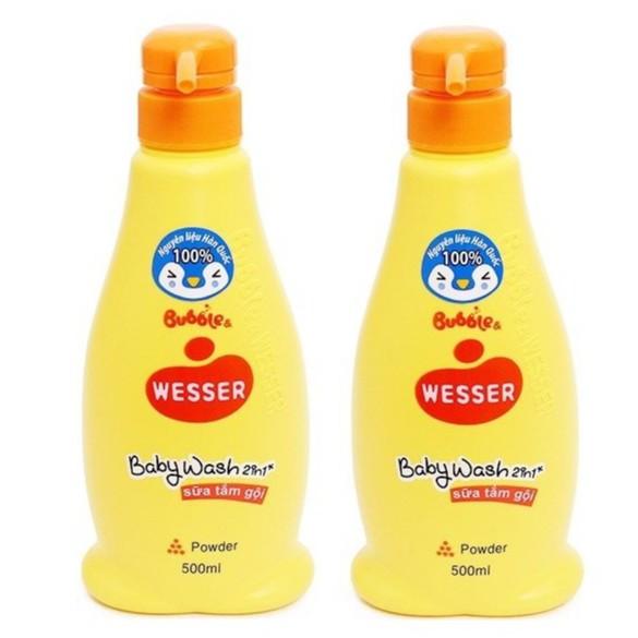 Combo 2 Sữa tắm gội Bubble Wesser 500ml đủ hương