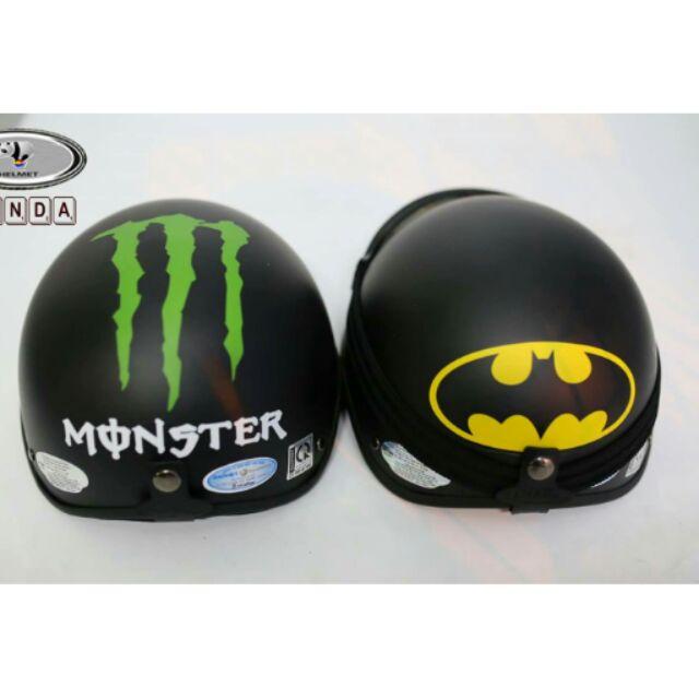 Compo mũ phượt BATMAN và kính uv400