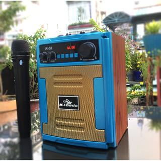 Loa kéo thùng gỗ Karaoke di động Kiomic K58,K59 - Tặng kèm 1 không dây - Bảo hành 1 đổi 1 - Giao hàng toàn quốc