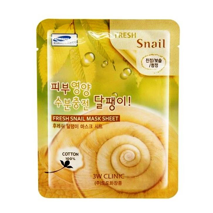 [Hàng Chính Hãng] Mặt nạ dưỡng da săn chắc và mềm mịn da chiết xuất ốc sên 3W Clinic Fresh Snail Mas - 10082690 , 486566398 , 322_486566398 , 15600 , Hang-Chinh-Hang-Mat-na-duong-da-san-chac-va-mem-min-da-chiet-xuat-oc-sen-3W-Clinic-Fresh-Snail-Mas-322_486566398 , shopee.vn , [Hàng Chính Hãng] Mặt nạ dưỡng da săn chắc và mềm mịn da chiết xuất ốc sên 3