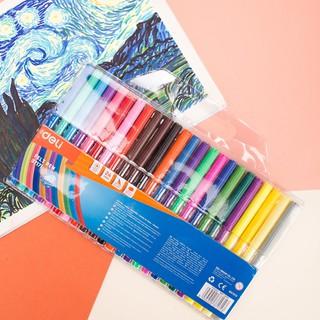 Hình ảnh Bút màu nước học sinh Deli, 1.0mm, 12 màu - 18 màu - 24 màu/hộp E37171-7