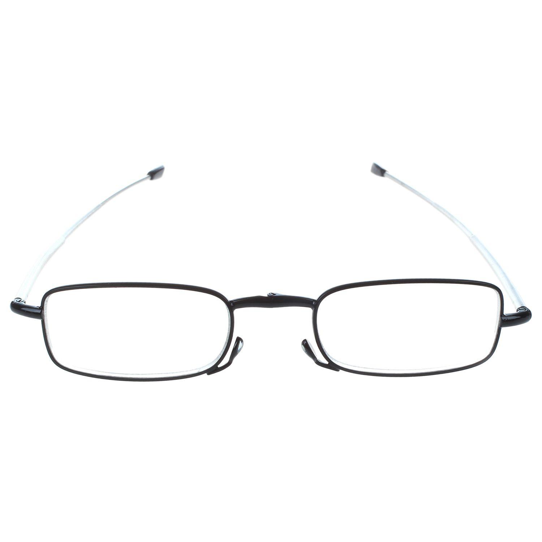 1 Pairs Folding Reading for Men and Women Eyeglass +1.0 black