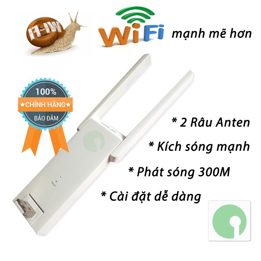 Thiết bị Kích sóng Wifi yếu trở nên mạnh hơn với Mecury 2 râu anten phát 300M - NPD-WF-2504